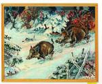 "7714203 Eva Rosenstand Kit Wild Boar 14"" x 16""; Linen; 26ct"