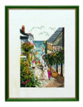 "7714085 Eva Rosenstand Kit Town By the Seaside 12"" x 16""; Linen; 26ct"