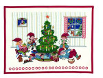 "7715253 Eva Rosenstand Kit Advent Calendar Pixies 253 18"" x 24""; Linen; 26ct"
