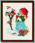 "7714232 Eva Rosenstand Kit Girl with Birdhouse 10"" x 12""; Linen; 26ct"