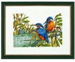 "7714147 Eva Rosenstand Kit Kingfishers 12"" x 16""; Linen; 26ct"