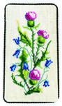"""7733008 Eva Rosenstand Kit Floral Eyeglass Case Includes marerial for mounting.; 4"""" x 6""""; Canvas; 18ct"""