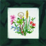 "Eva Rosenstand Kit Flowers Mini-7 5"" x 5""; Linen; 30ct"