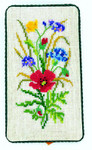 """77332005 Eva Rosenstand Kit Floral Eyeglass Case Includes marerial for mounting.; 4"""" x 6""""; Canvas; 18ct"""