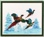 "7714285 Eva Rosenstand Kit Pheasants 16"" x 20""; Linen; 26ct"