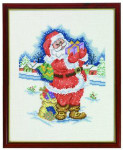 "7714432 Eva Rosenstand Kit Santa Claus 10"" x 12""; Linen; 26ct"