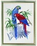 "77126765 Eva Rosenstand Kit Blue Macaws 22"" x 28""; Linen; 19ct"