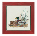 "7712944 Eva Rosenstand Kit Mallards 12"" x 20""; Linen; 26ct"