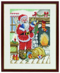 "7714433 Eva Rosenstand Kit Santa Claus 11"" x 14""; Linen; 26ct"