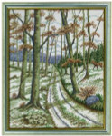 "7712630 Eva Rosenstand Kit Autumn Scene 16"" x 20""; Linen; 26ct"