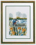 "7712975 Eva Rosenstand Kit No Fishing 16"" x 20""; Linen; 25ct"