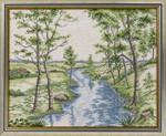 """7712660 Eva Rosenstand Kit Spring Forest 16"""" x 22""""; Linen; 26ct"""