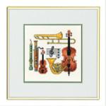 """7712947 Eva Rosenstand Kit Music 10"""" x 10""""; Linen; 26ct"""