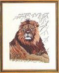 """7712761 Eva Rosenstand Kit Lion 16"""" x 20""""; Linen; 26ct"""