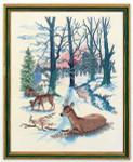 """7712652 Eva Rosenstand Kit Deer in Winter 16"""" x 20""""; Linen; 26ct"""