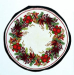 "77054126 Eva Rosenstand Kit Begonia Wreath 23"" round; Linen; 26ct"