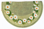 "77054102 Eva Rosenstand Kit Daisy Wreath 17"" round; Linen; 26ct"