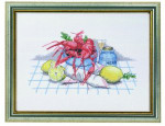 "7714079 Eva Rosenstand Kit Crawfish 12"" x 16""; Linen; 26ct"