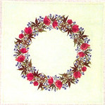 "77054509 Eva Rosenstand Kit Floral Wreath 26"" circle; Linen; 25ct"