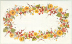 "77122104 Eva Rosenstand Kit Sunflowers Tablecloth 66"" x 100""; Linen; 26ct"