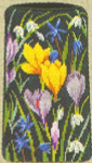 """77330054 Eva Rosenstand Kit Floral Eyeglass Case Includes marerial for mounting.; 4"""" x 6""""; Canvas; 18ct"""