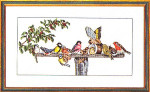 "7714076 Eva Rosenstand Kit Birds At The Feeder 20"" x 12""; Linen; 25ct"