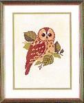 """77084498 Eva Rosenstand Kit Owl 9-1/2"""" x 12""""; Linen; 25ct"""