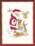 """7712974 Eva Rosenstand Kit Playing Santa Claus 12"""" x 16""""; Linen; 25ct"""