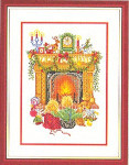 "7714138 Eva Rosenstand Kit Children In Front Of Fireplace 12"" x 16""; Linen; 25ct"