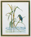 "7712552 Eva Rosenstand Kit Kingfisher 16"" x 20""; Linen; 25ct"