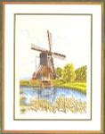 "7712622 Eva Rosenstand Kit Windmill 16"" x 20""; Linen; 25ct"