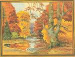 "7712496 Eva Rosenstand Kit Fall Landscape 18"" x 24""; Linen; 20ct"