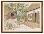 "7714219 Eva Rosenstand Kit Farm & Horse 22"" x 28""; Linen; 20ct"