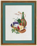 "7712603 Eva Rosenstand Kit Cheese & Red Wine 16"" x 20""; Linen; 25ct"