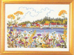 "7714210 Eva Rosenstand Kit Lake Homes 16"" x 12""; Linen; 25ct"