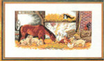 "7714141 Eva Rosenstand Kit Barnyard Friends 12"" x 20""; Linen; 25ct"
