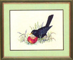 "7712983 Eva Rosenstand Kit Bird In Grass 9"" x 12""; Linen; 25ct"