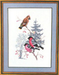 "7712731 Eva Rosenstand Kit Birds 16"" x 20""; Linen; 25ct"