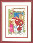"""7714100 Eva Rosenstand Kit Santa's At The Door 12"""" x 16""""; Linen; 25ct"""
