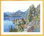 "7712760 Eva Rosenstand Kit Mountain Village 19"" x 23""; Linen; 25ct"