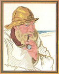 "7714212 Eva Rosenstand Kit Fisherman With Pipe 16"" x 20"" ; Linen; 25ct"