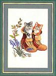 """7712798 Eva Rosenstand Kit Kittens In Boots 12"""" x 16""""; Linen; 25ct"""