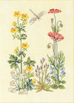 "7712253 Eva Rosenstand Kit Flowers & Dragonfly 11"" x 14""; Linen; 30ct"