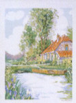 "7714469 Eva Rosenstand Kit Cottage On The River 16"" x 20""; Linen; 26ct"