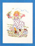 "7712991 Eva Rosenstand Kit Girl With Dog 12"" x 16""; Linen; 25ct"
