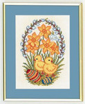 "7712892 Eva Rosenstand Kit Chicks with Eggs 8"" x 10""; Linen; 25ct"