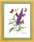 "7712739 Eva Rosenstand Kit Butterflies & Stem 16"" x 20"" ; Linen; 25ct"