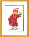 "7714098 Eva Rosenstand Kit Girl With Candle 12"" x 16""; Linen; 25ct"