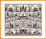 "7712535 Eva Rosenstand Kit Country Farm Sampler 20"" x 16""; Linen; 25ct"