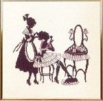 "7714271 Eva Rosenstand Kit Silhouette Girls 10"" x 10""; Linen; 30ct"